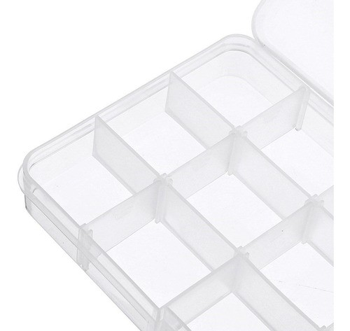 Kit 10 Caixa Organizadora Multiuso 15 Divisórias Moduláveis