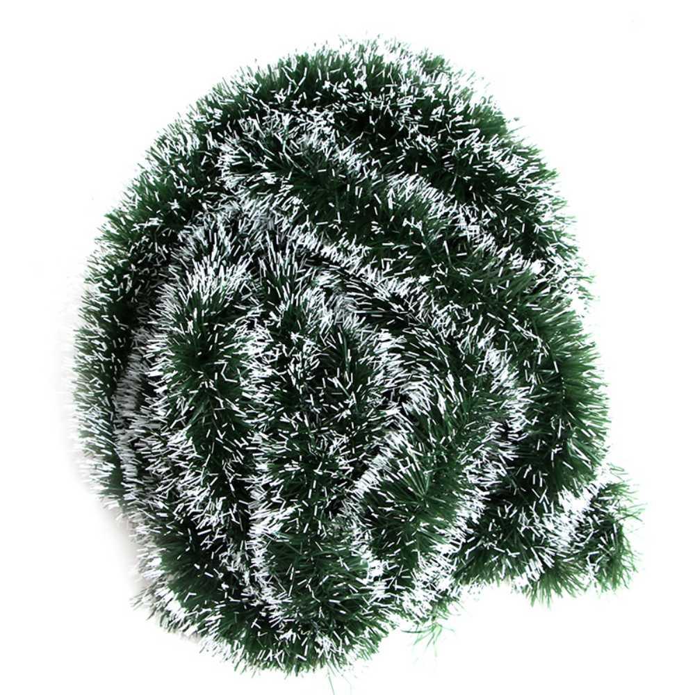 Kit 10 Festão Nevado 2 Metros 5 cm Enfeite Arvore Natal