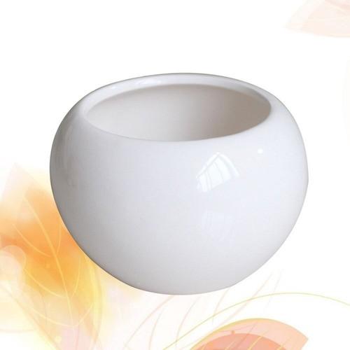 Kit 10 Mini Vaso Aquário Redondo De Cerâmica Decoração 70ml