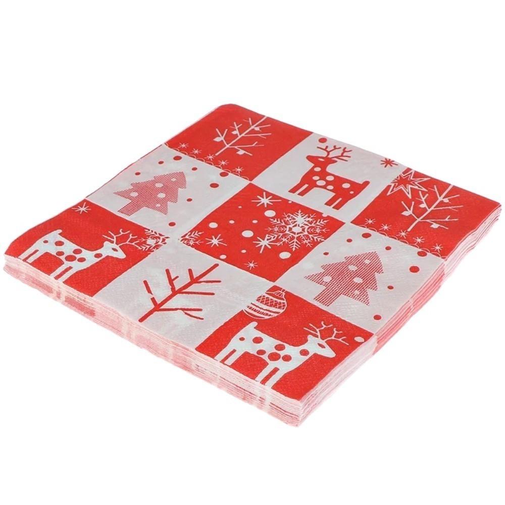 Kit 10 Papel Guardanapo Natalino Decoração De Natal.