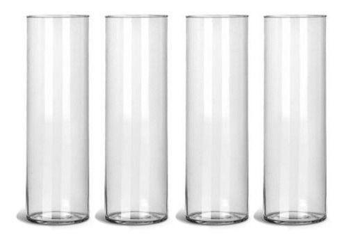 Kit 10 Vasos Tubo Copo De Vidro 10 X 35cm Decoração Mesa