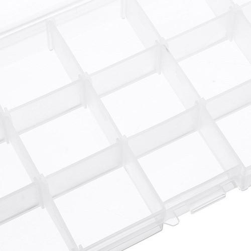 Kit 12 Caixa Organizadora Multiuso 15 Divisórias Moduláveis