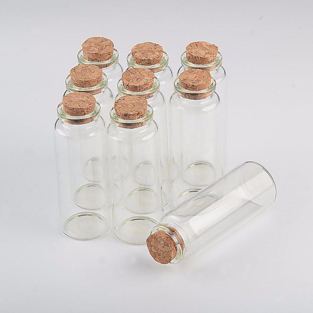 Kit 12 Frascos De Vidro Com Rolha Para Lembrancinha 40ml