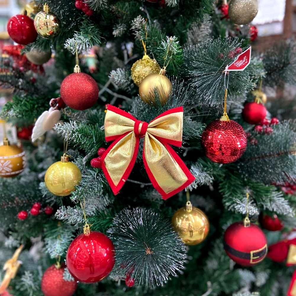 Kit 12 Laços Decorativo Enfeite Para Árvore De Natal 16Cm