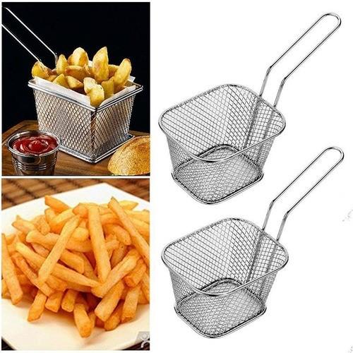 Kit 12 Mini Cestos Batata Frita Porções Frangos Restaurante