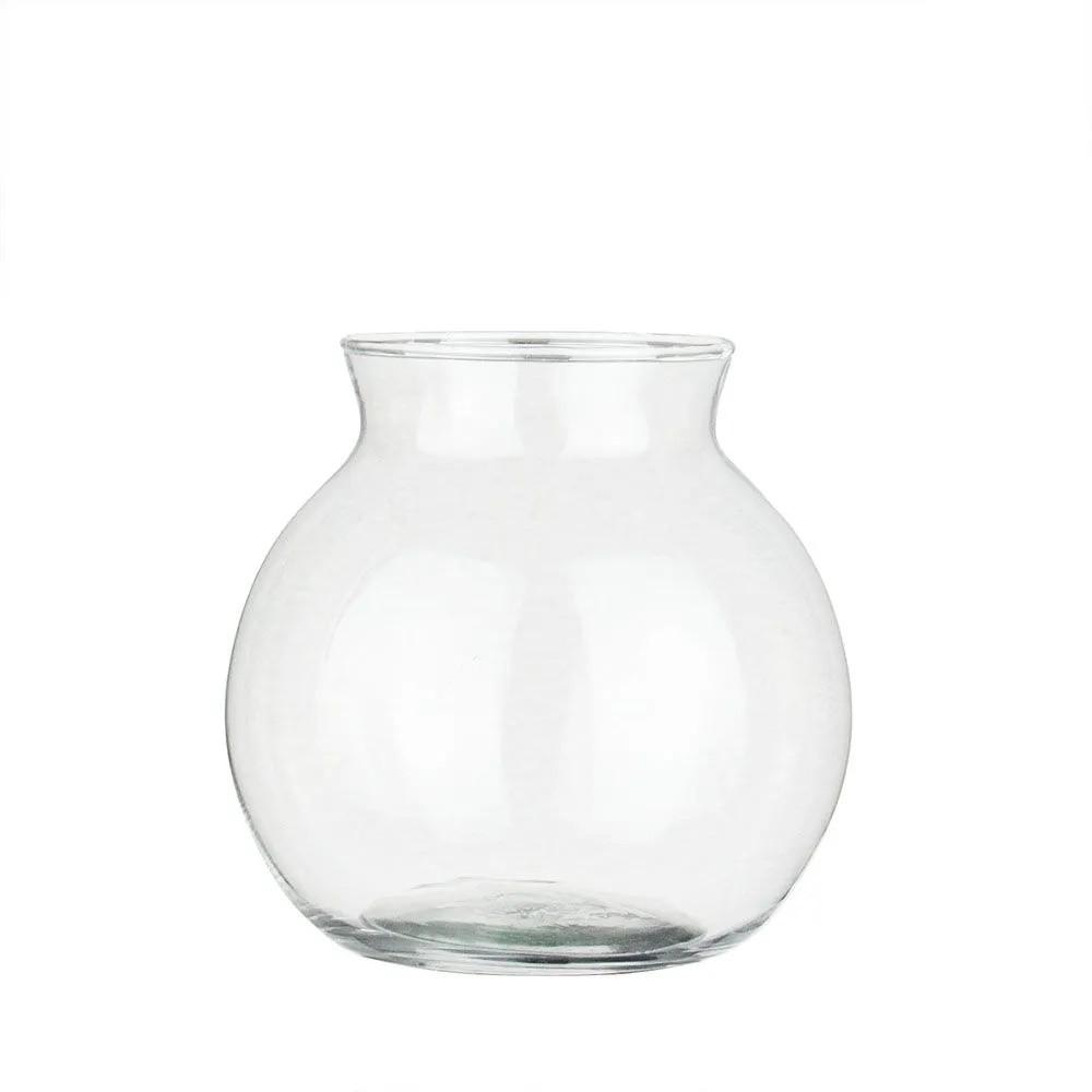 Kit 12 Vasos Castiçal Aquário De Vidro Com Colar 500ml Mesa