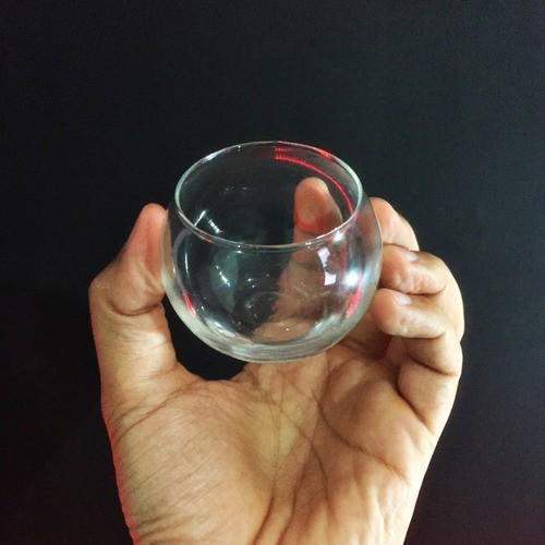 Kit 15 Mini Vasos Aquário De Vidro 100ml + 1kg Pedras Branca