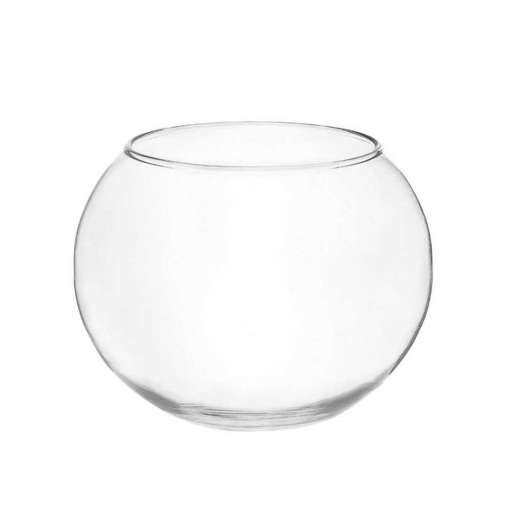 Kit 15 Vasos De Vidro Aquário Redondo 900ml Decoração Peixes
