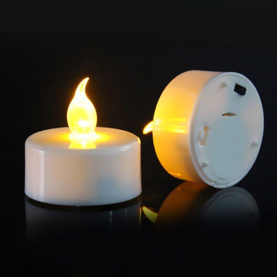 Kit 15 Vela Eletrônica Decorativa de Led Amarela + Baterias