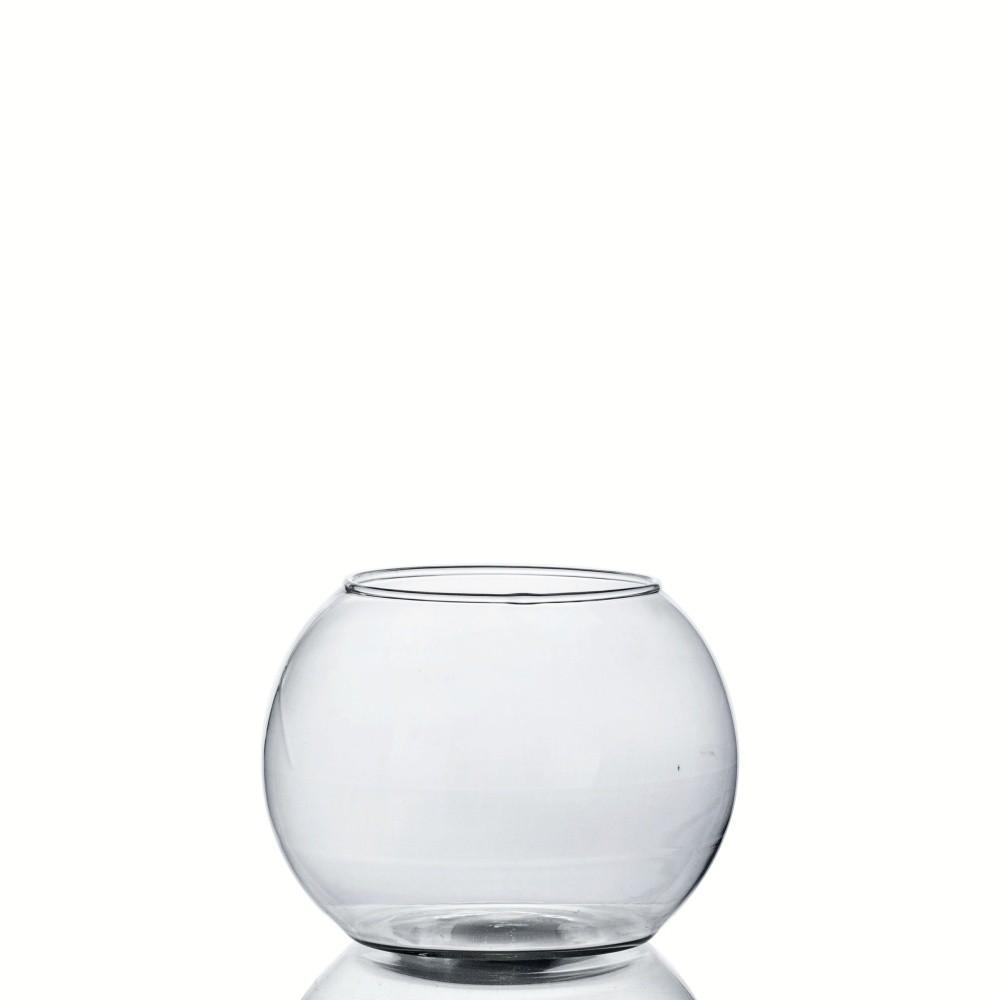 Kit 20 Vasos De Vidro Aquário Redondo 900ml Decoração Peixes