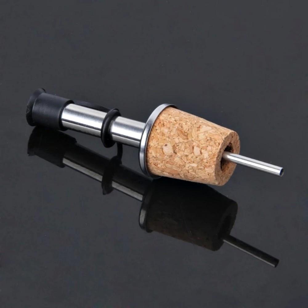 Kit 2 Bico Dosador Com Rolha Para Garrafa De Vinho Azeite
