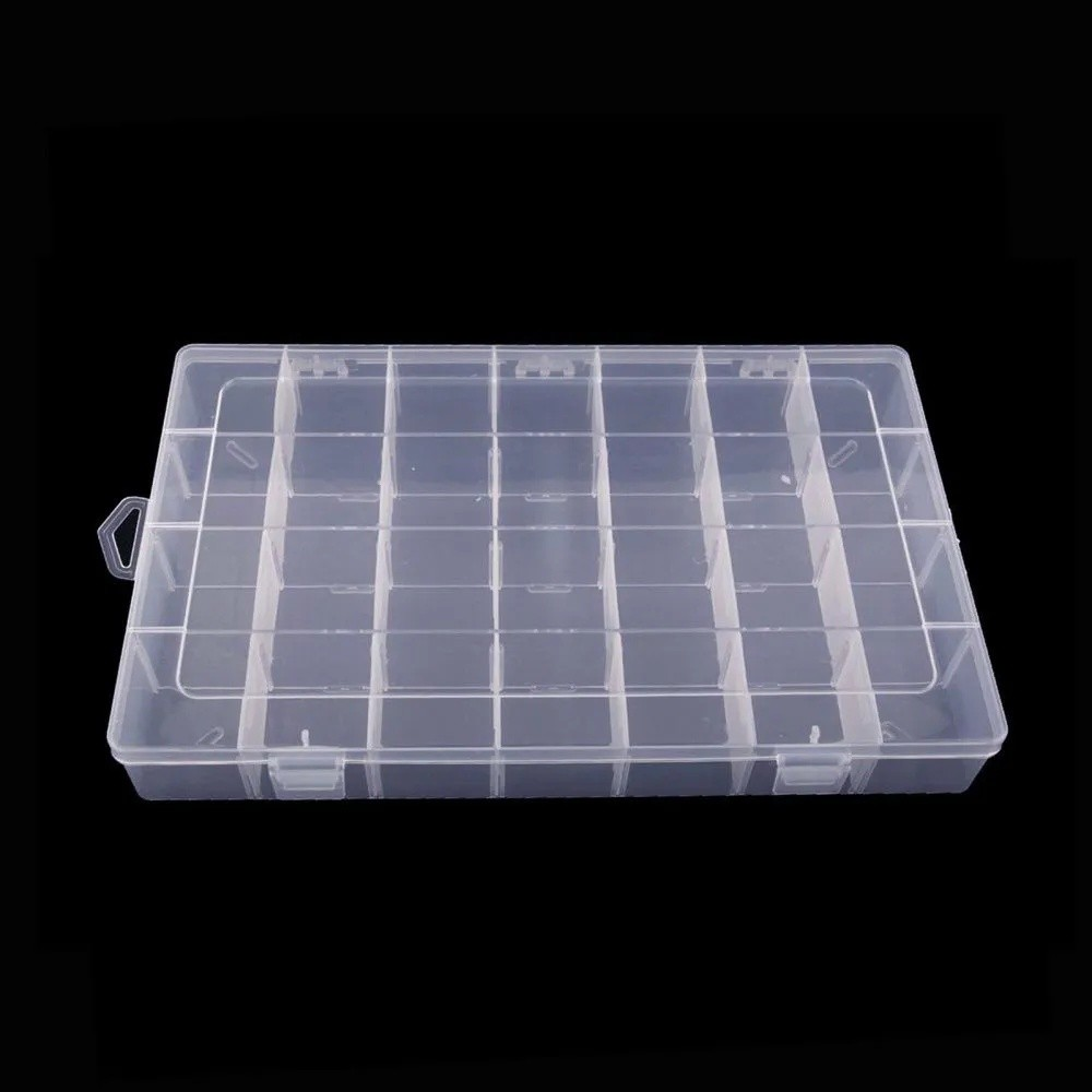 Kit 2 Caixa Organizadora Multiuso 28 Divisórias Moduláveis