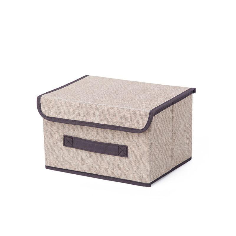 Kit 2 Caixas Organizadora Tecido Com Tampa Dobrável