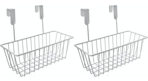 Kit 2 Cesto Organizador Aramado Para Porta Ou Armário