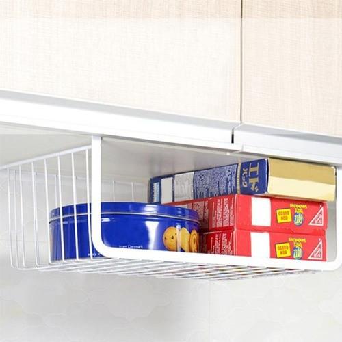 Kit 2 Cestos Organizador De Cozinha Com Encaixe Prateleira