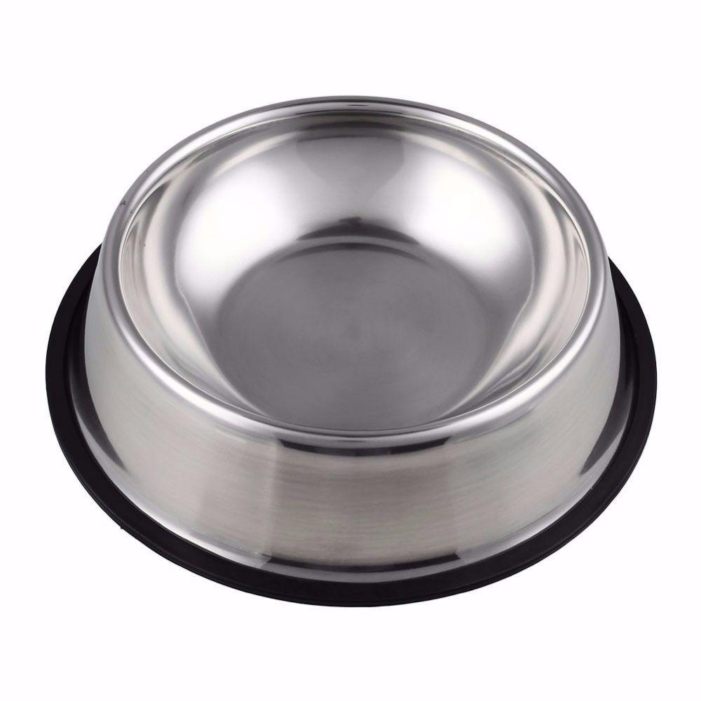 Kit 2 Comedouros Bebedouro Pote Inox Ração Cães E Gato 300ml