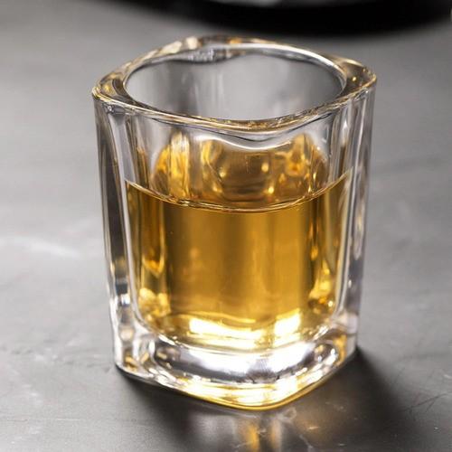 Kit 2 Copo Vidro Aperitivo Bebida Alcoólica Porta Vela 50ml