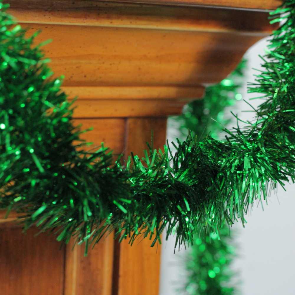 Kit 2 Festão Verde de 2 Metros 8 cm Enfeite Arvore Natal