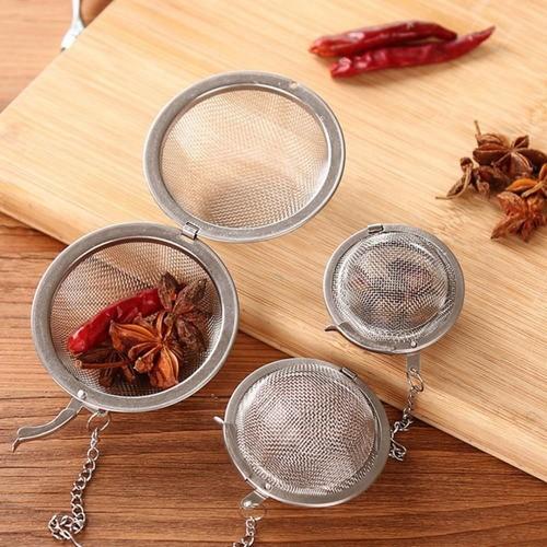 Kit 2 Infusor De Chá Aço Inox Coador Peneira Chaleira Erva
