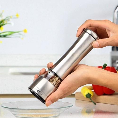 Kit 2 Moedor De Sal Pimenta Temperos Aço Inox Gourmet