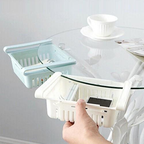 Kit 2 Organizador Ajustável Cozinha Geladeira Multiuso Verde