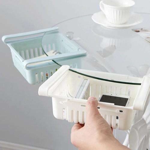 Kit 2 Organizador Ajustável Geladeira Multiuso Branco