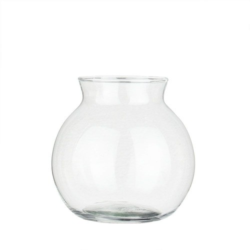 Kit 2 Vasos Castiçal Aquário De Vidro Com Colar 500ml Mesa