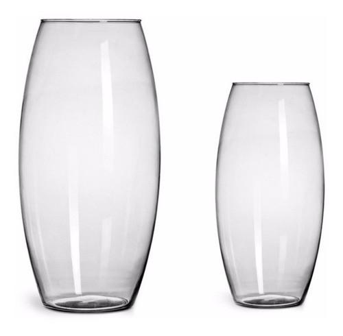 Kit 2 Vasos De Vidro 22cm + 30cm Decoração Casamentos