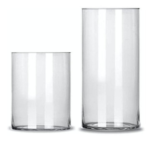 Kit 2 Vasos De Vidro Tubo 14x20 e 14x30 Decoração Flores