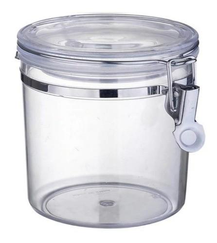 Kit 3 Pote Hermético Plástico Com Tampa Cozinha Luxo 600Ml