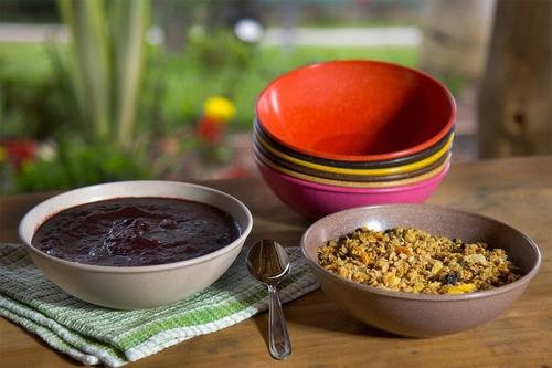 Kit 3 Tigelas Cumbuca Bowl Sustentável 1 L Caldo Sopa Açaí Imbuia