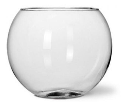 Kit 3 Vasos De Vidro Aquario Redondo 4 L Decoração De Mesa