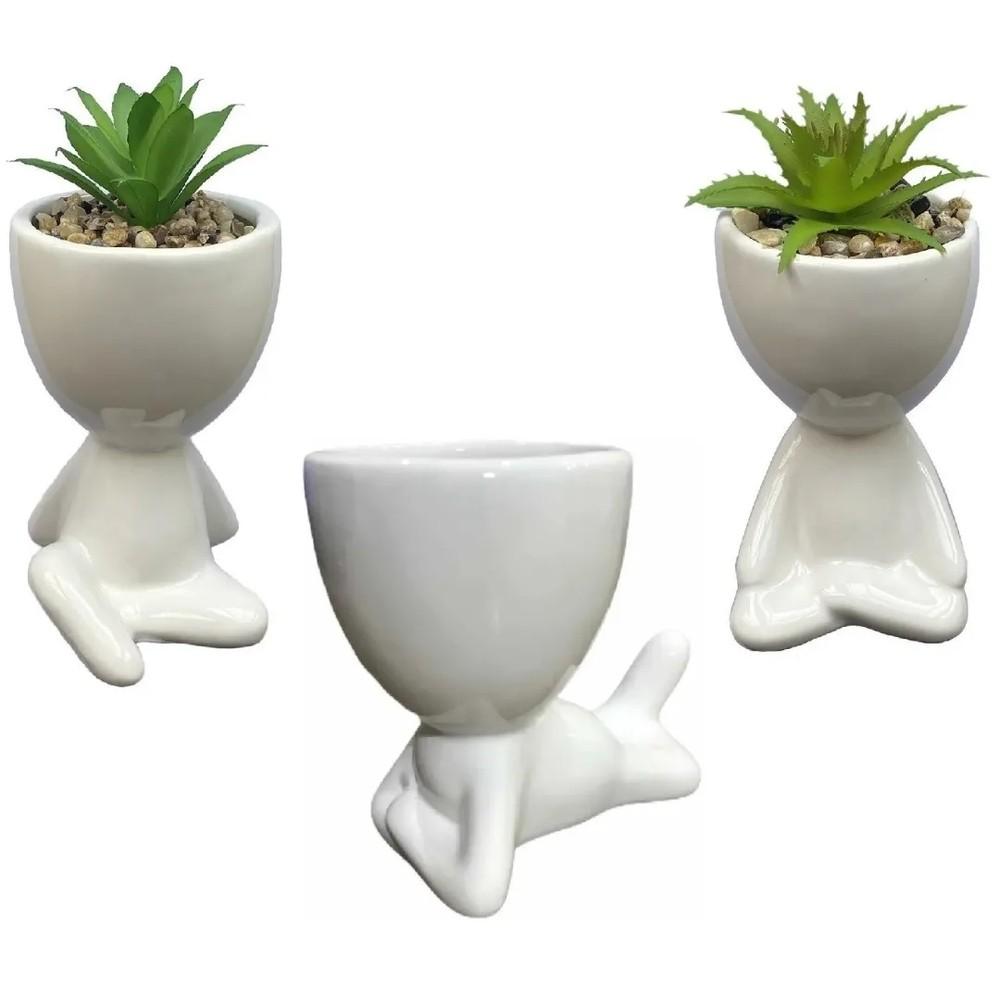 Kit 3 Vasos Vasinhos Bob Robert Plant Suculenta Enfeite