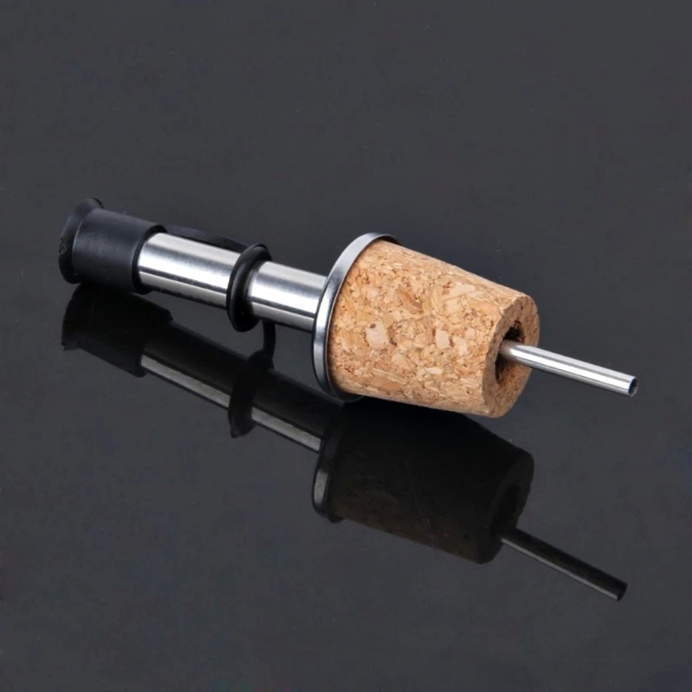 Kit 4 Bico Dosador Com Rolha Para Garrafa De Vinho Azeite