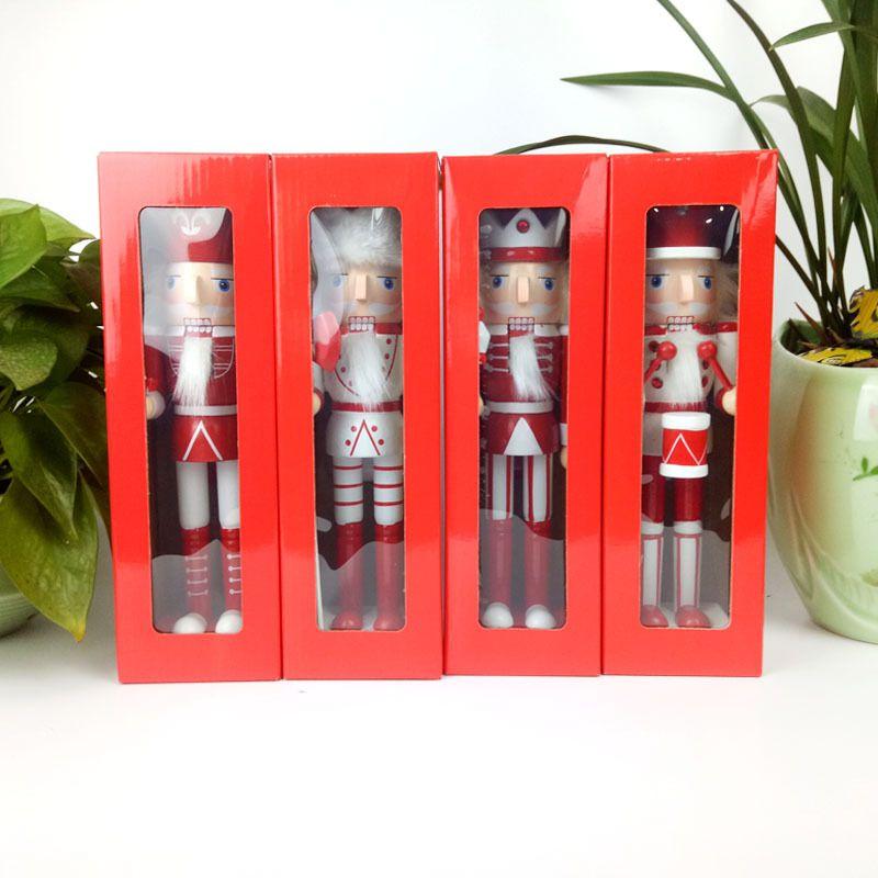 Kit 4 Bonecos Soldado Quebra Nozes Enfeite Decoração de Natal