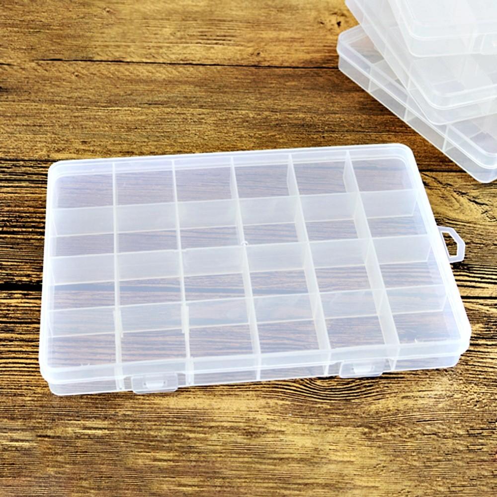 Kit 4 Caixa Organizadora Multiuso Com 24 Divisórias