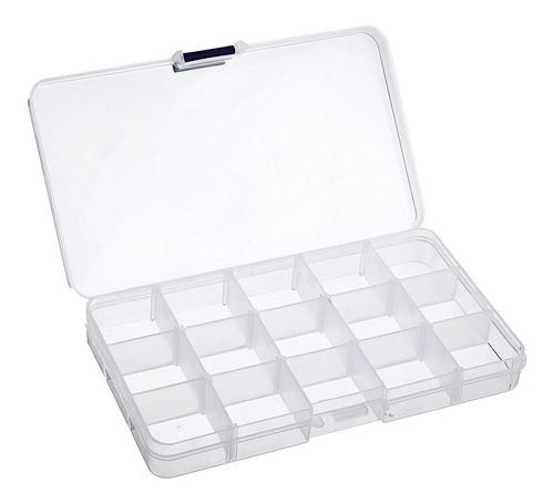 Kit 4 Caixas Organizadora Multiuso 15 Divisórias Moduláveis