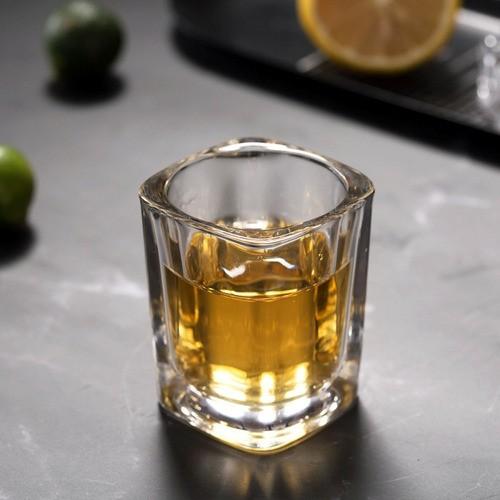 Kit 4 Copo Vidro Aperitivo Bebida Alcoólica Porta Vela 50ml