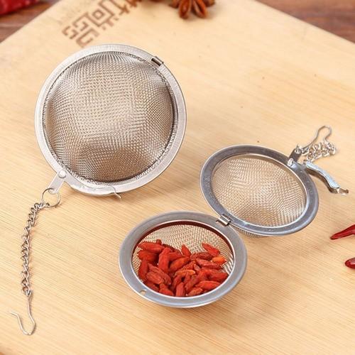 Kit 4 Infusor De Chá Aço Inox Coador Peneira Chaleira Erva