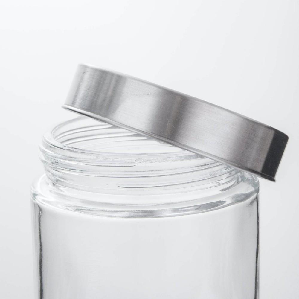 Kit 4 Potes Frasco De Vidro Com Tampa Para Mantimentos 400ml
