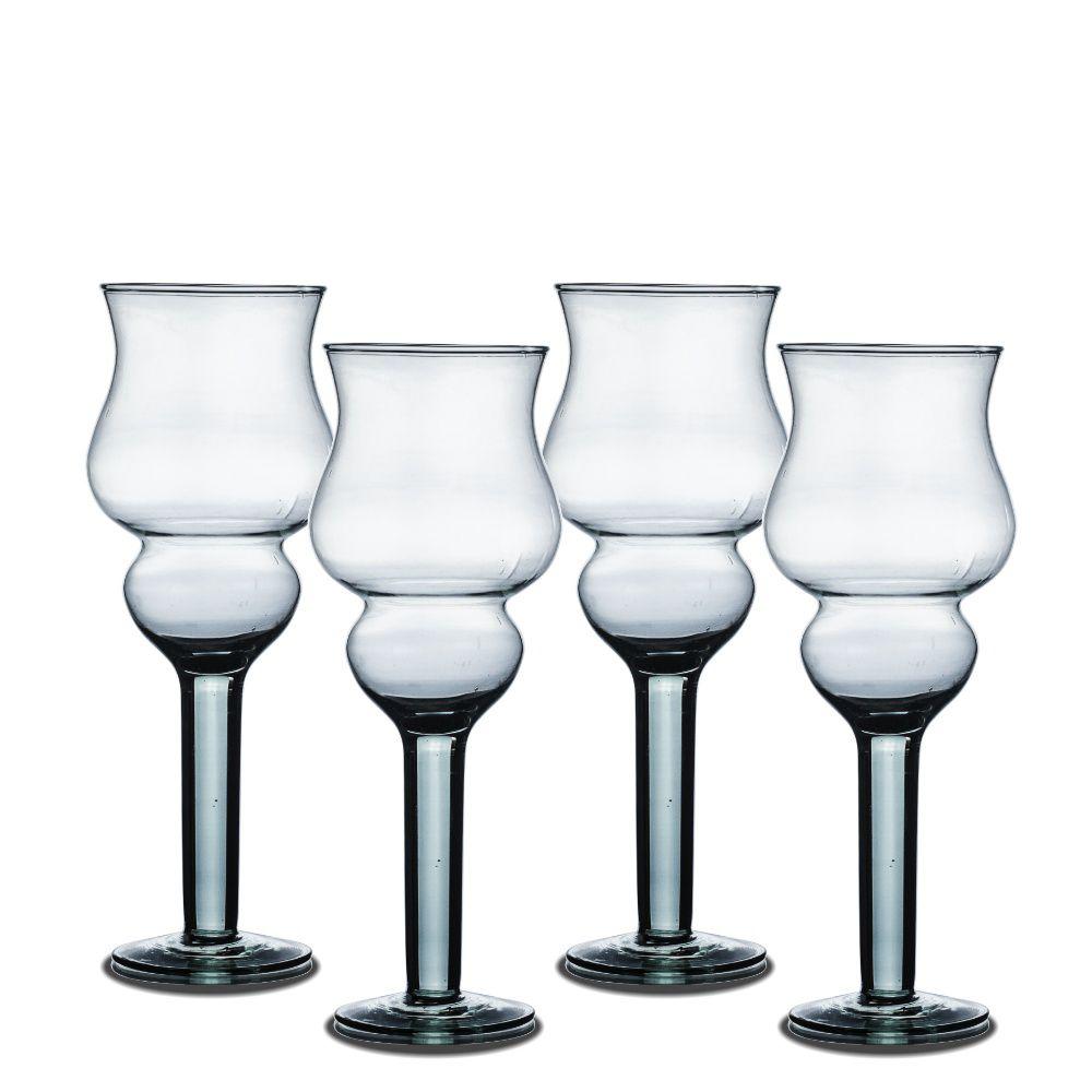 Kit 4 Vaso Taça De Vidro 25cm Para Decoração Festa Casamento