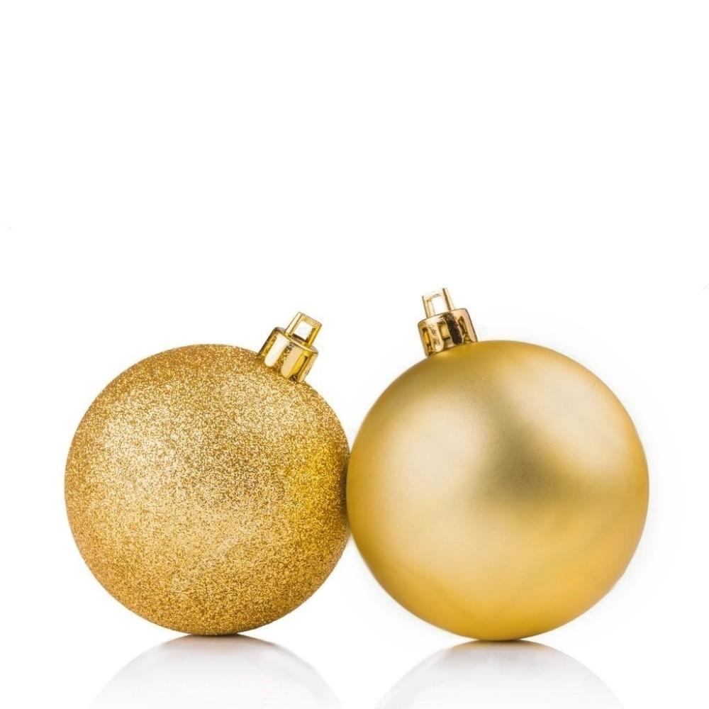 Kit 5 Bola Grande Decorativa Dourado Enfeite Árvore Natal