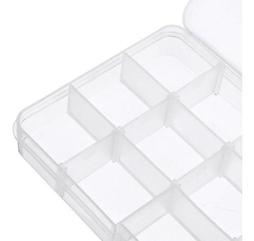 Kit 5 Caixa Organizadora Multiuso 15 Divisórias Moduláveis