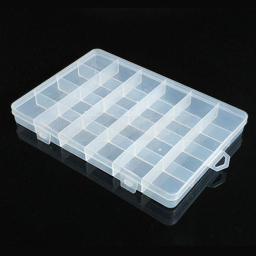 Kit 5 Caixa Organizadora Multiuso Com 24 Divisórias