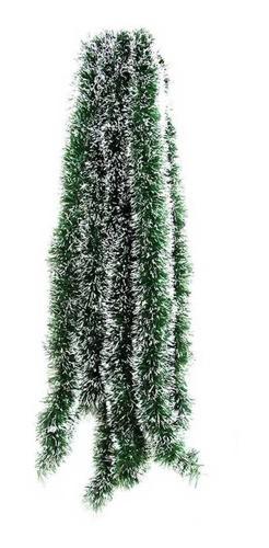 Kit 5 Festão Nevado 2 Metros 5 cm Enfeite Arvore Natal