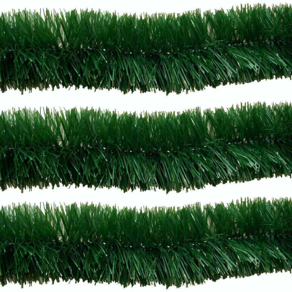 Kit 5 Festão Verde de 2 Metros 8 cm Enfeite Arvore Natal