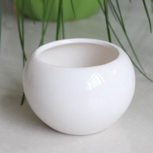 Kit 5 Mini Vaso Aquário Redondo De Cerâmica Decoração 70ml