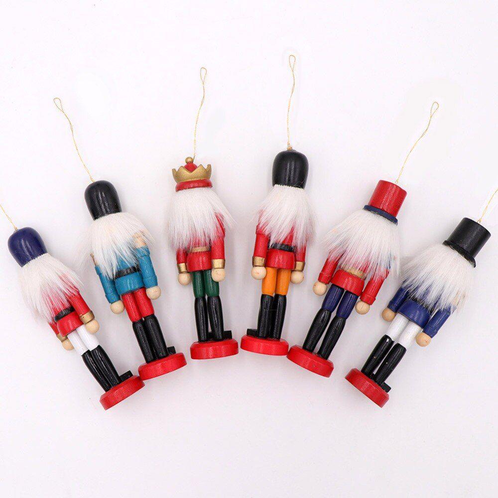 Kit 6 Bonecos Soldado Quebra Nozes Decoração de Natal