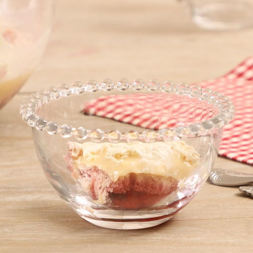 Kit 6 Bowls De Cristal Pérola Decorativo Sobremesa