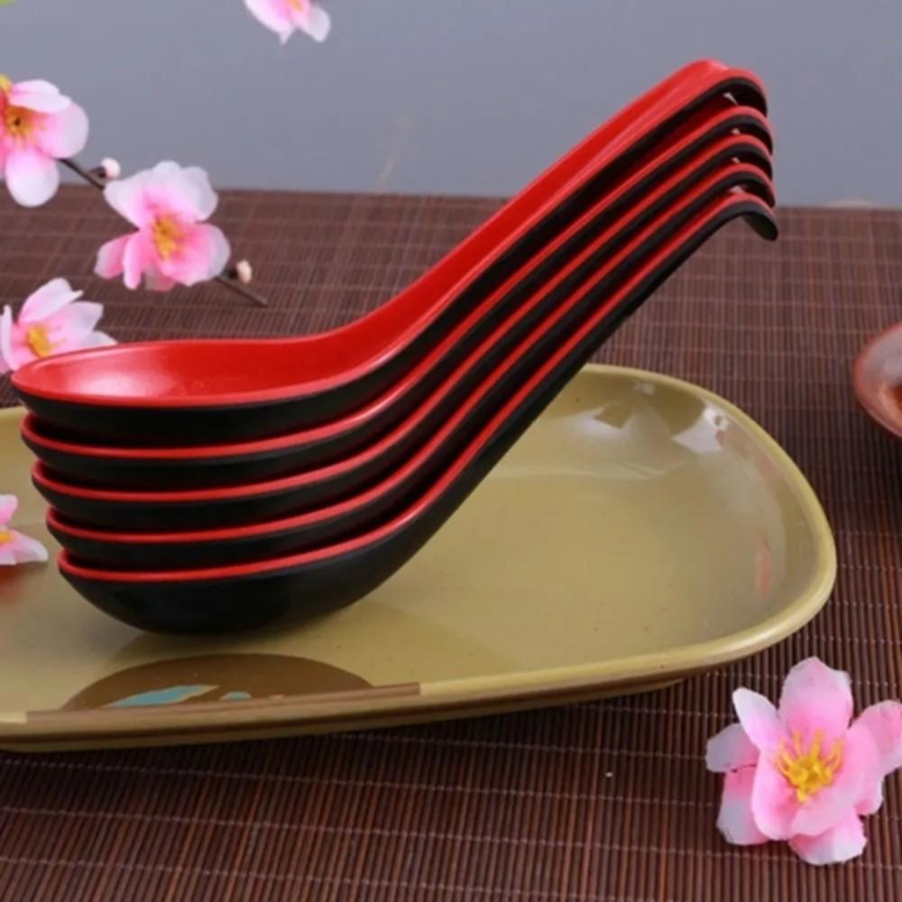 Kit 6 Colheres Para Comida Japonesa Suchi Finger Food 16 Cm